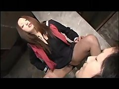Dominant young Japanese girls get abusive