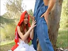 Little Sex Riding Hood Is A Redhead Out In The Woods For Sex