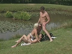 Alexandra Ross German country cheating wife fucked by two young