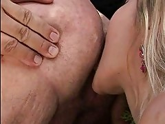 Teen beauty enjoying nasty sex with grandpa