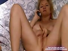 Old Slut Nikki Seduces Young Boys By Phone While She Masturbates On Cam