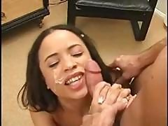 Cute Teen Gets Nice Facial Hj Cs Awesome Young Chic