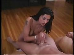 Hot Brunette Hand Job