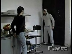 Hot german teen fucked in the kitchen