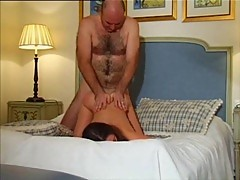 Teen licked and hard rammed in a hotel