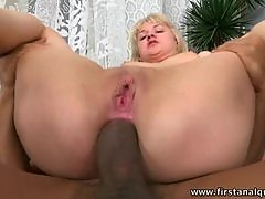 Amabellas Gaping Asshole Gets Covered With Cum After Interracial Anal