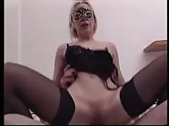 Masked Young Italian Blonde Bimbo With Small Tits Gets Fucked