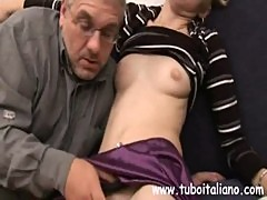 Sexy Italian Teen with older man Ragazza ITA