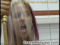 Fetish babe Cynthia flexible strip for crazyfetishpass